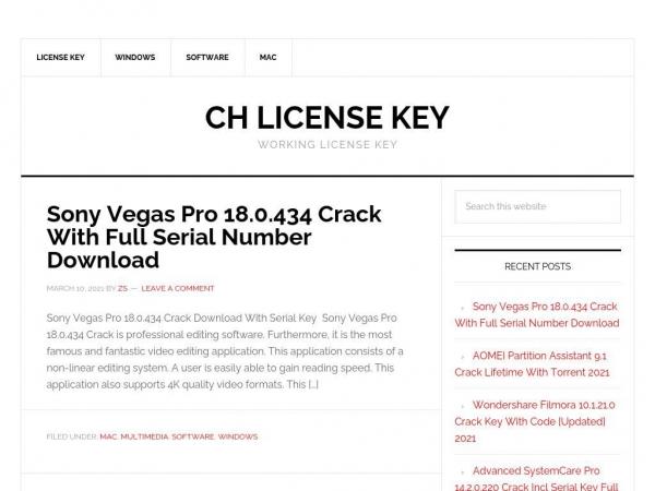 chlicensekey.com
